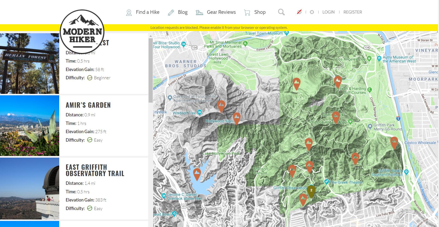 Trailsmap i love griffith park griffith park map pdf gumiabroncs Image collections